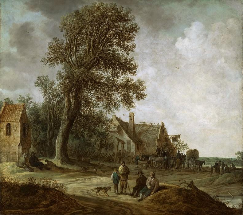 Jan van Goyen, Dutch (active Leiden and The Hague), 1596-1656 -- Peasants Resting before an Inn. Philadelphia Museum of Art
