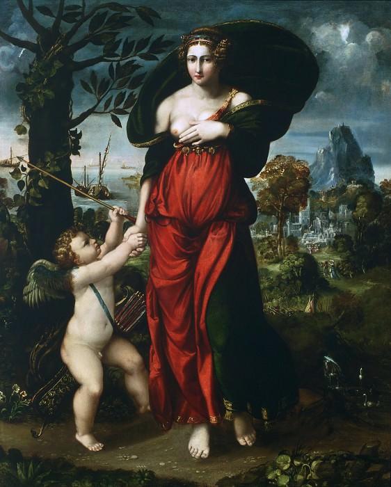Battista Dossi (Battista de' Luteri), Italian (active Ferrara), c. 1490-1548 -- Venus and Cupid. Philadelphia Museum of Art