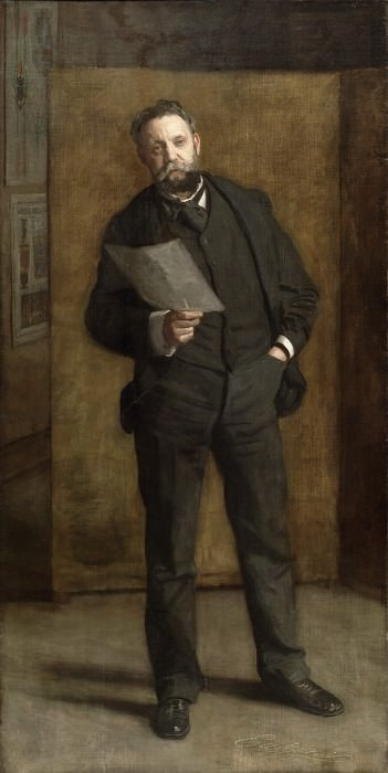 Thomas Eakins, American, 1844-1916 -- Portrait of Leslie W. Miller. Philadelphia Museum of Art