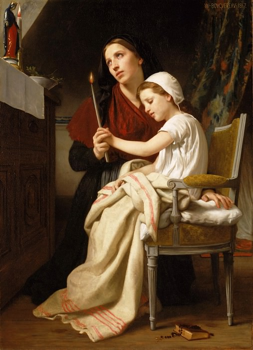 William-Adolphe Bouguereau, French, 1825-1905 -- The Thank Offering. Philadelphia Museum of Art