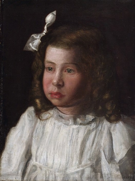 Thomas Eakins, American, 1844-1916 -- Portrait of a Little Girl. Philadelphia Museum of Art