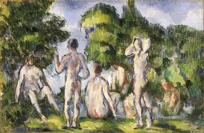 Paul Cézanne, French, 1839-1906 -- Group of Bathers. Philadelphia Museum of Art