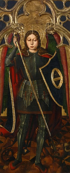 Juan Ximénez, Spanish (active Aragon), first documented 1500, died 1505 -- The Archangel Michael. Philadelphia Museum of Art