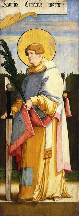 Master of Messkirch, German, active 1520-1540 -- Saint Ciriacus. Philadelphia Museum of Art