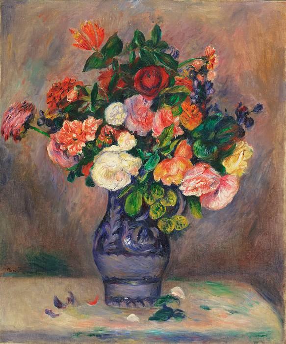 Ренуар, Пьер-Огюст (1841-1919) -- Цветы в вазе. Музей искусств Филадельфии
