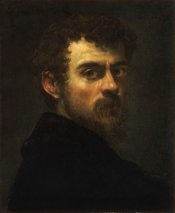 Tintoretto (Jacopo di Giovanni Battista Robusti), Italian (active Venice), 1519-1594 -- Self-Portrait. Philadelphia Museum of Art