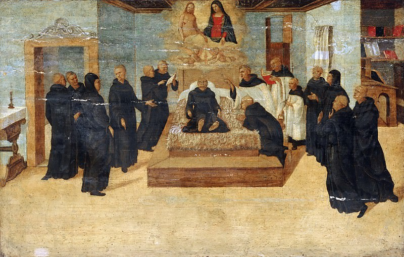 Niccolò Giolfino, Italian (active Verona), 1476-1555 -- The Death of the Blessed Filippo Benizzi. Philadelphia Museum of Art