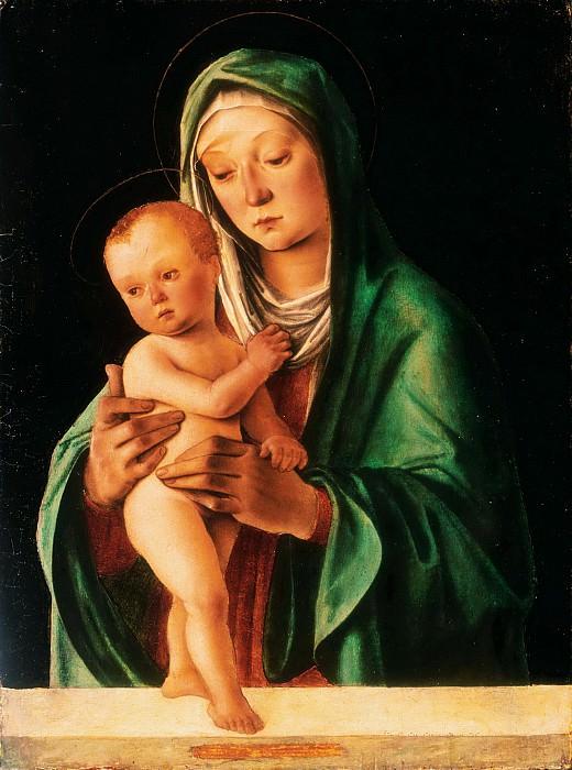 Lorenzo di Ottavio Costa, Italian (active Bologna, Ferrara, and Mantua), c. 1460-1535 -- Virgin and Child. Philadelphia Museum of Art