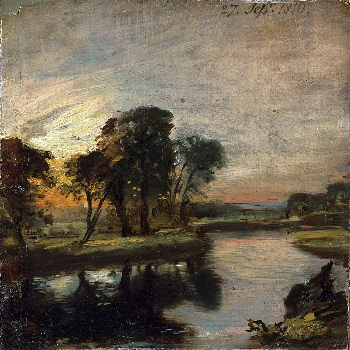 John Constable, English, 1776-1837 -- The Stour. Philadelphia Museum of Art