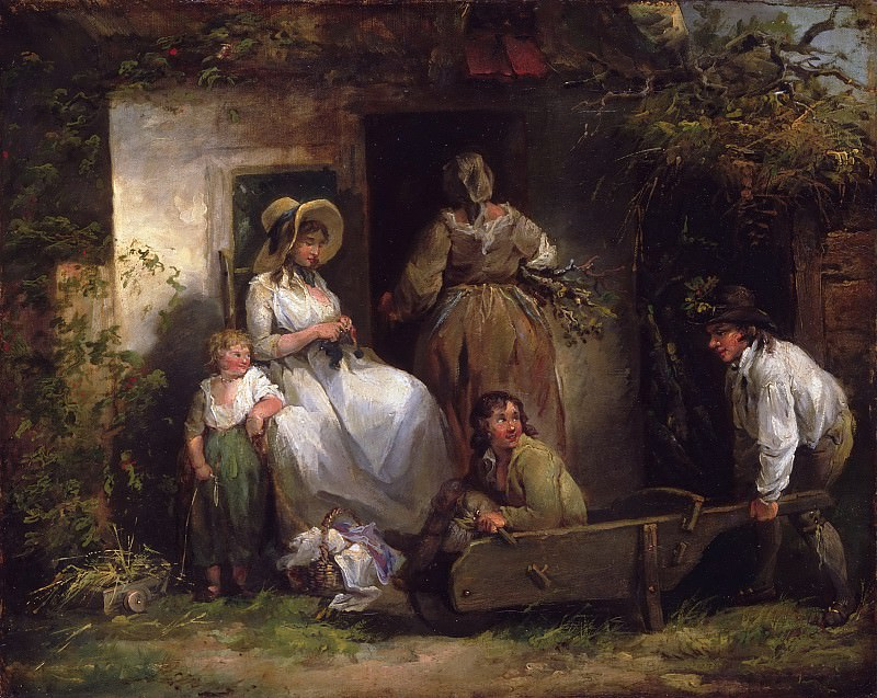 George Morland, English, 1763-1804 -- The Happy Cottagers (The Cottage Door). Philadelphia Museum of Art