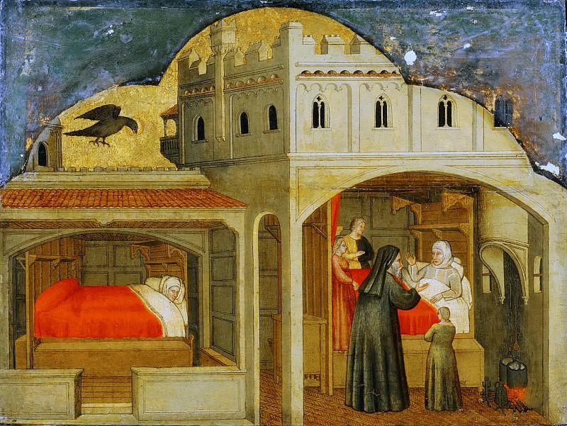 Attributed to Martino da Verona (Martino di Alberto), Italian, died 1412, Verona -- Saint Eligius's Mother Told of Her Son's Future Fame. Philadelphia Museum of Art