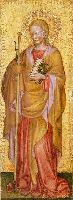 Antonio Orsini (Master of the Carminati Coronation), Italian (active Ferrara), documented 1432-1491 -- Saint James Major. Philadelphia Museum of Art