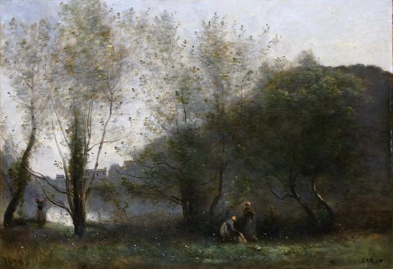 Jean-Baptiste-Camille Corot, French, 1796-1875 -- Morning on the Estuary, Ville d'Avray. Philadelphia Museum of Art