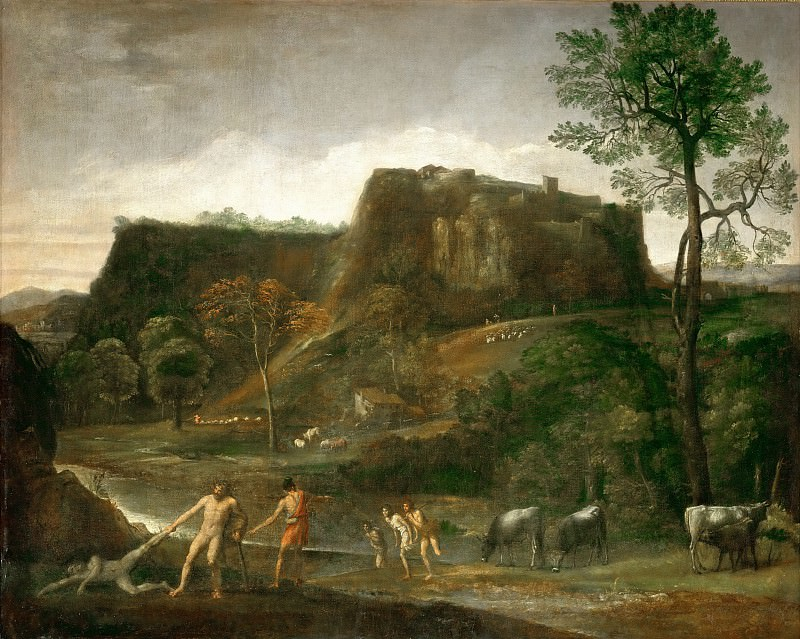 Domenichino -- Hercules drags Cacus from his cave. Part 3 Louvre