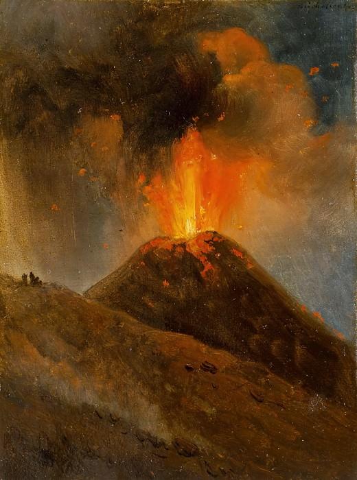 Achille Etna Michallon -- Eruption of Vesuvius, night. Part 3 Louvre