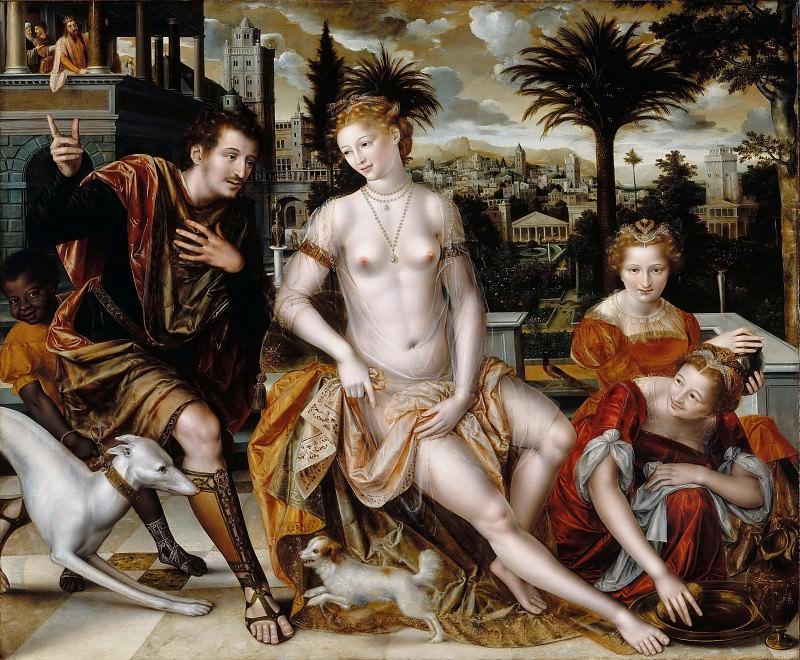 Массейс, Ян (Антверпен ок1510-1575) -- Давид и Вирсавия. часть 3 Лувр