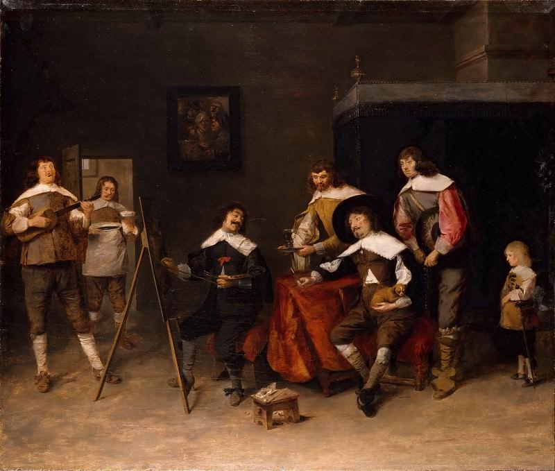 Josse van Craesbeeck -- Painter making a portrait (also called 'Craesbeeck's Studio'). Part 3 Louvre