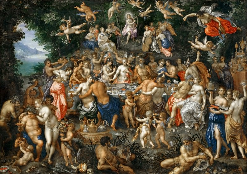 Hendrik de Clerck -- The Marriage of Peleos and Thetis, or The Marriage Feast. Part 3 Louvre
