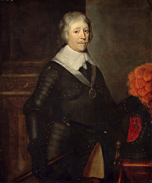 After Gerrit van Honthorst; previously attributed to Cornelius Janssen van Ceulen -- Frederik Hendrik, Prince of Orange, Stadholder of the United Provinces of the Netherlands. Part 3 Louvre