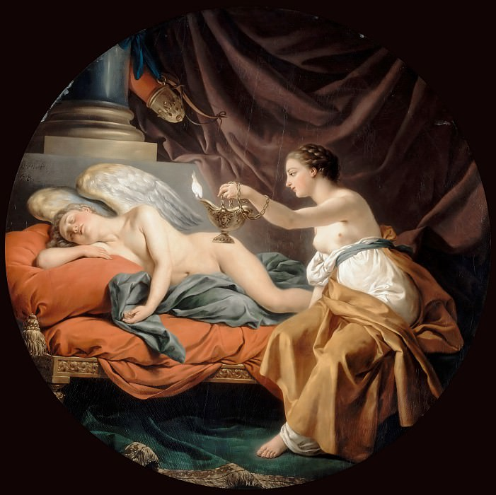 Louis Jean François Lagrenée -- Psyche Wakes the Sleeping Amor. Part 3 Louvre