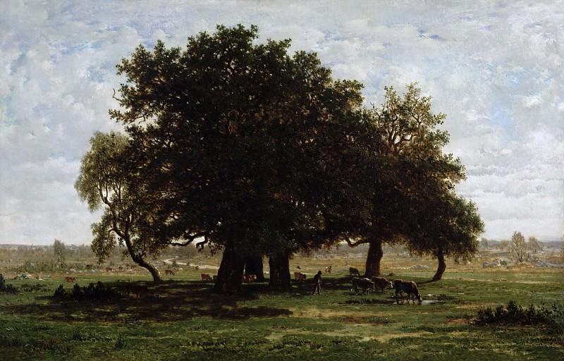 Руссо, Пьер-Этьен-Теодор (1812 Париж - 1867 Барбизон) -- Дубы в Апремоне. Part 3 Louvre