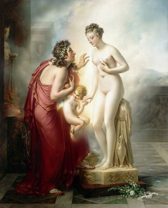 Anne-Louis Girodet de Roucy-Trioson -- Pygmalion and Galatea. Part 3 Louvre