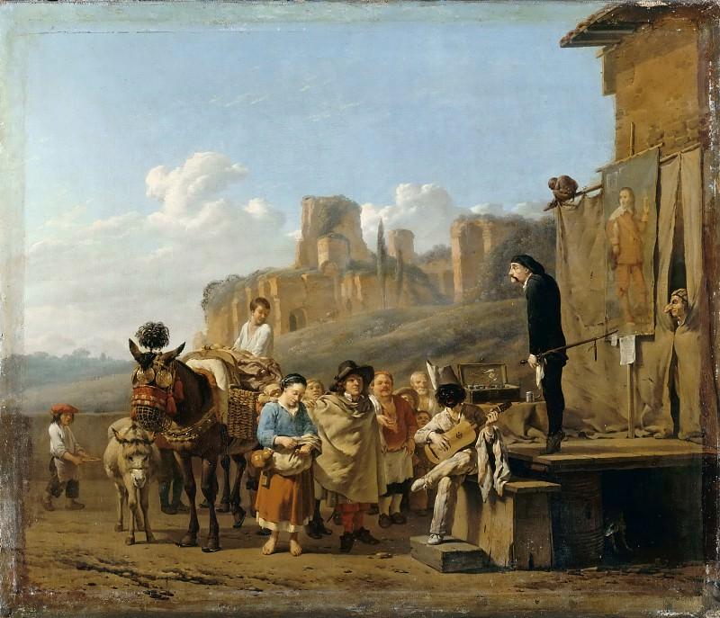 Karel Dujardin -- The Italian Charlatans. Part 3 Louvre