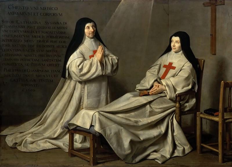 Philippe de Champaigne -- Mother Catherine-Agnès Arnauld and Sister Catherine de Sainte Suzanne de Champaigne, the artist's daughter. Part 3 Louvre
