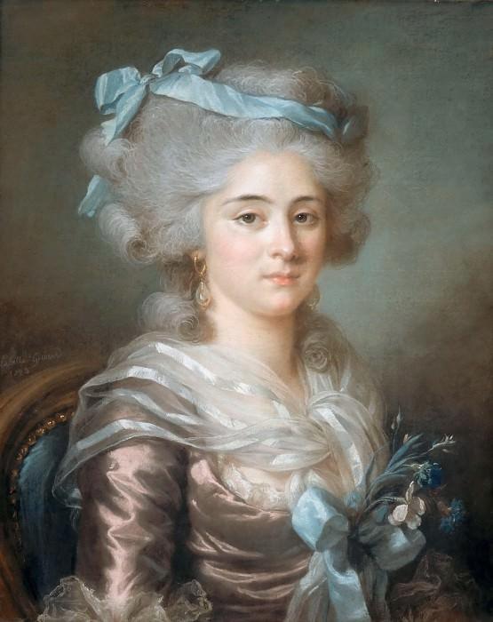 Adélaïde Labille-Guiard -- Portrait of Mme Clodion. Part 3 Louvre