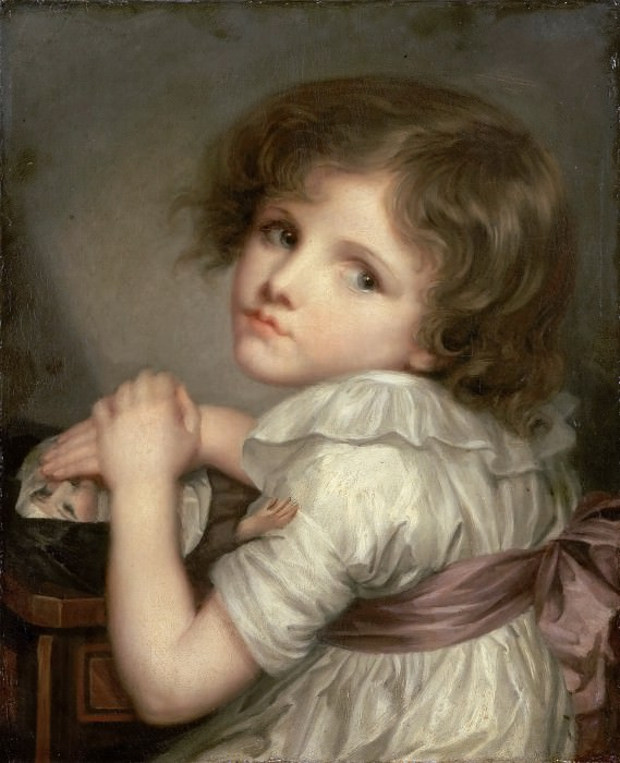 Anna Geneviève Greuze; formerly attributed to Jean-Baptiste Greuze -- Child with a Doll. Part 3 Louvre