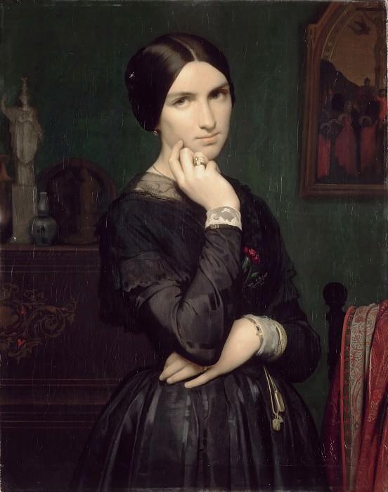 Hippolyte-Jean Flandrin -- Portrait of Madame Flandrin, the Artist's Wife. Part 3 Louvre