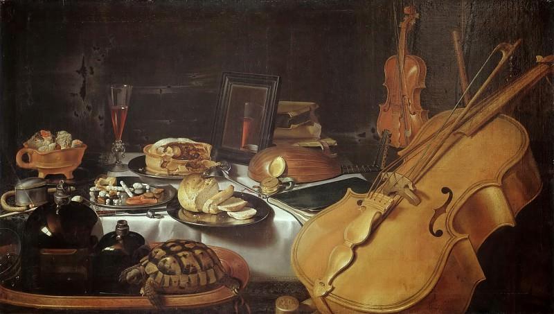 Клас, Питер (1597 Штейнфурт - 1660 Харлем) -- Натюрморт с музыкальными инструментами. часть 3 Лувр