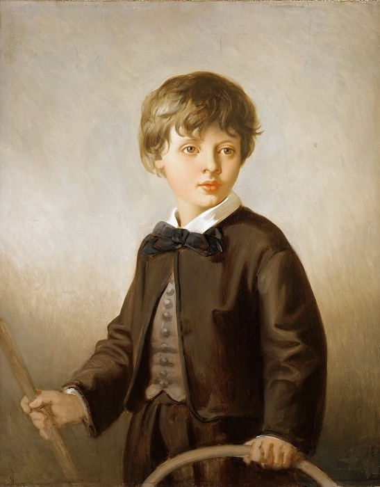 Victor Louis Mottez -- Henri Mottez as a child (1858-1937), son of the artist. Part 3 Louvre
