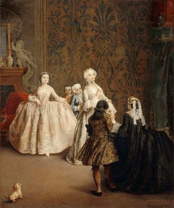Pietro Longhi -- The Presentation. Part 3 Louvre