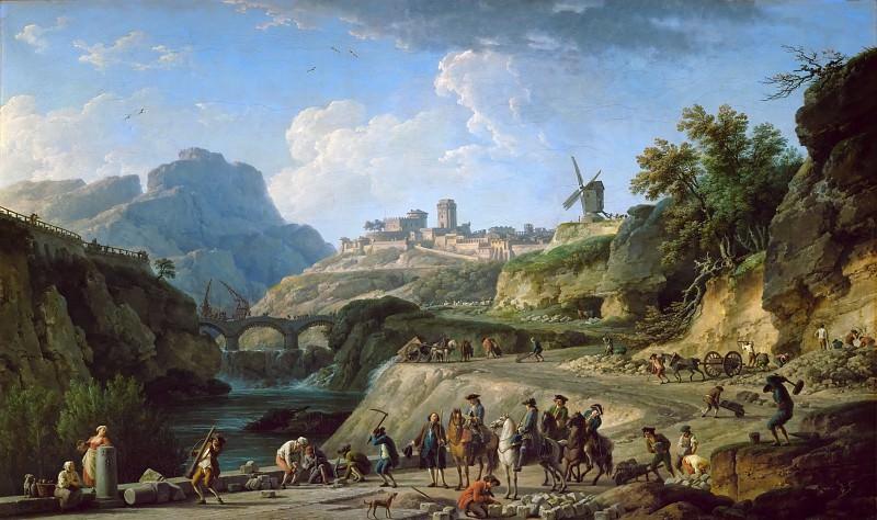 Claude-Joseph Vernet -- Construction of a Grand Chemin. Part 3 Louvre