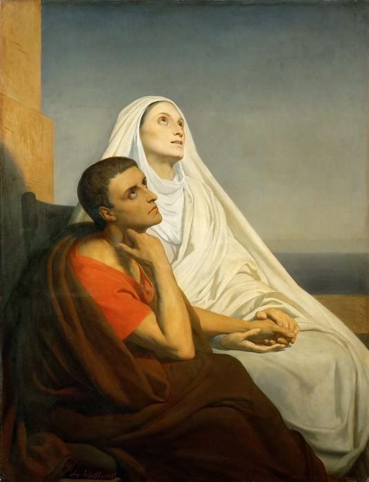 Ary Scheffer (1795-1858) -- Saint Augustine and His Mother, Saint Monica. Part 3 Louvre