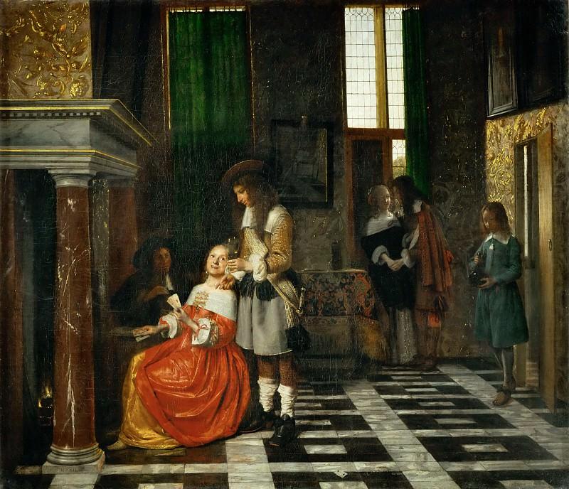 Pieter de Hooch (1629-1684) -- The Card Players. Part 3 Louvre