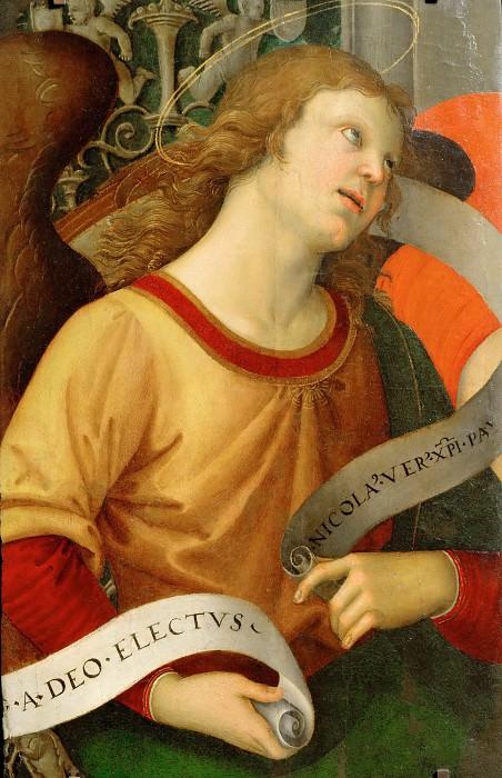 Raphael -- Angel; fragment. Part 3 Louvre