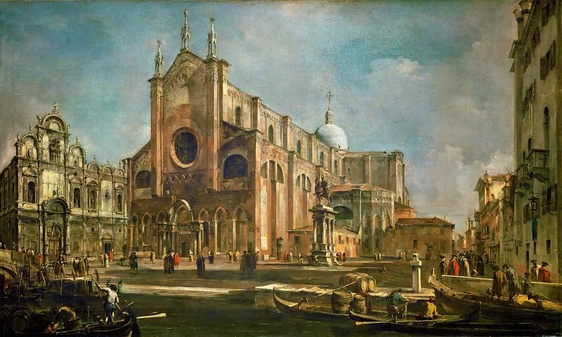 Гварди, Франческо (Венеция 1712-1793) -- Кампо Сан Дзаниполо (площадь свв Иоанна и Павла) со скуолой Сан Марко и памятником Коллеони работы Верроккьо. часть 3 Лувр