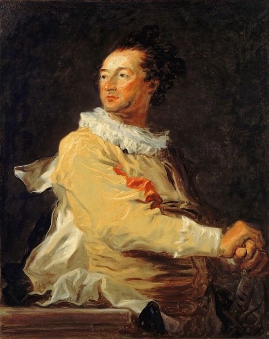 Portrait of Anne-François d'Harcourt, Duke of Beuvron, as a Character of the Comédie Italienne. Jean Honore Fragonard