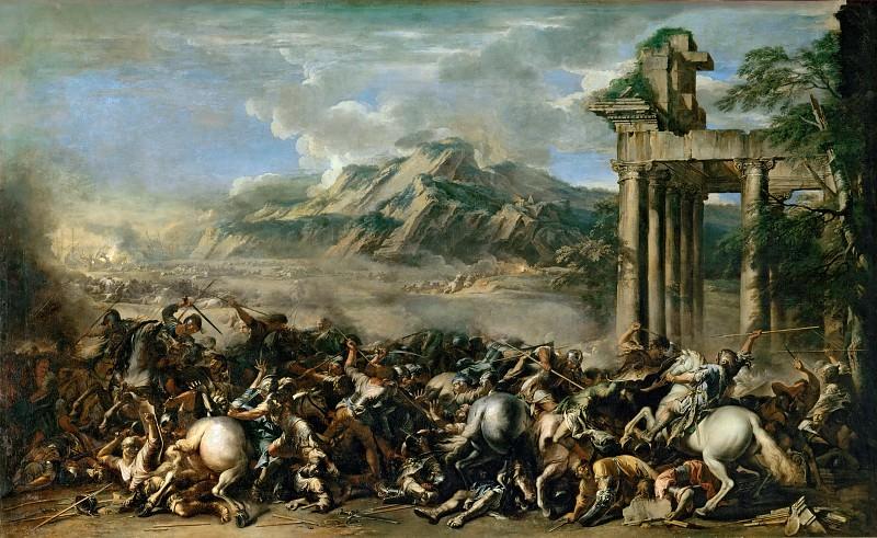 Salvator Rosa (1615-1673) -- Heroic Battle. Part 3 Louvre