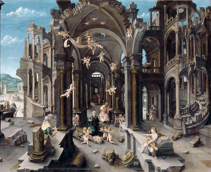 Jean de Gourmont the Elder -- Adoration of the Shepherds. Part 3 Louvre