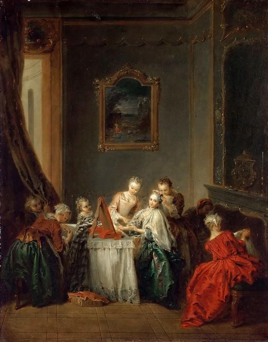 Jean-Baptiste Pater -- The Toilette. Part 3 Louvre