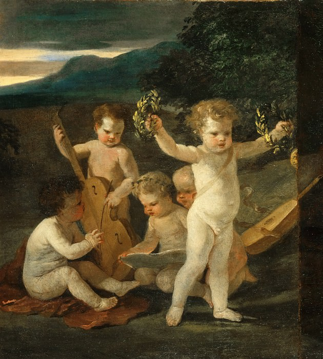 Nicolas Poussin -- Concert of Cupids. Part 3 Louvre