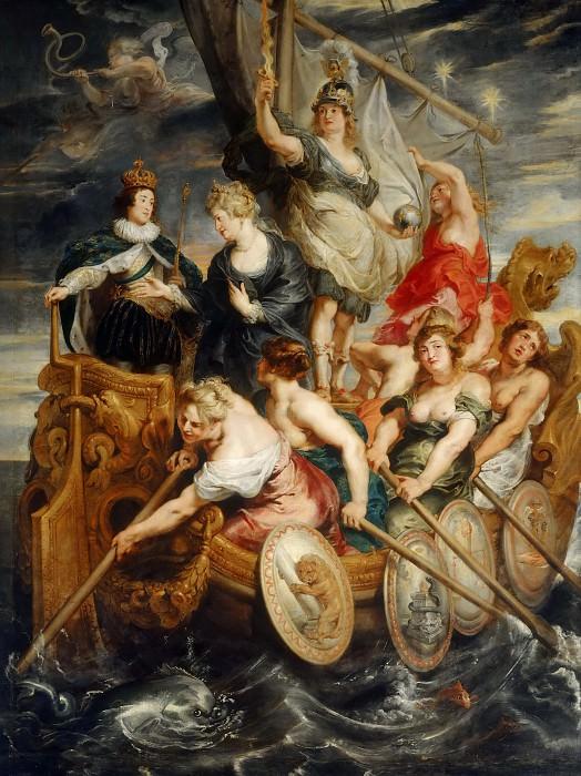 Совершеннолетие Людовика XIII. Питер Пауль Рубенс