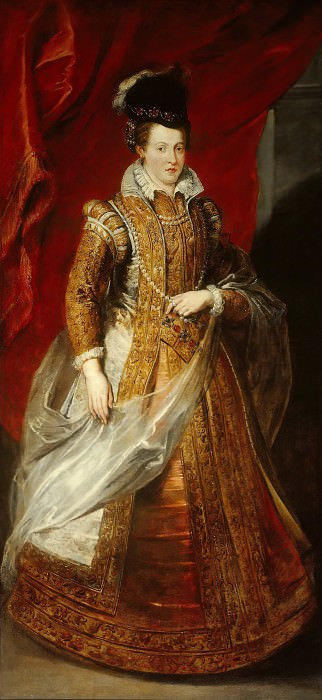 Johanna, Archduchess of Austria, Grand Duchess of Tuscany. Peter Paul Rubens