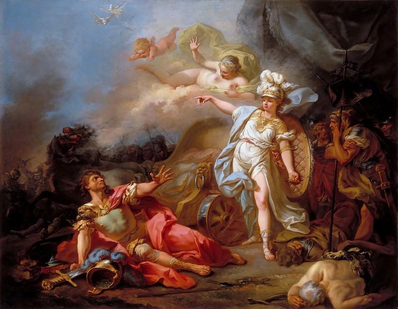Combat between Minerva and Mars. Jacques-Louis David