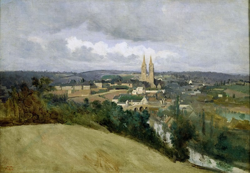 Коро, Жан-Батист-Камиль (Париж 1796-1875) -- Вид на город Сен-Ло. Part 3 Louvre
