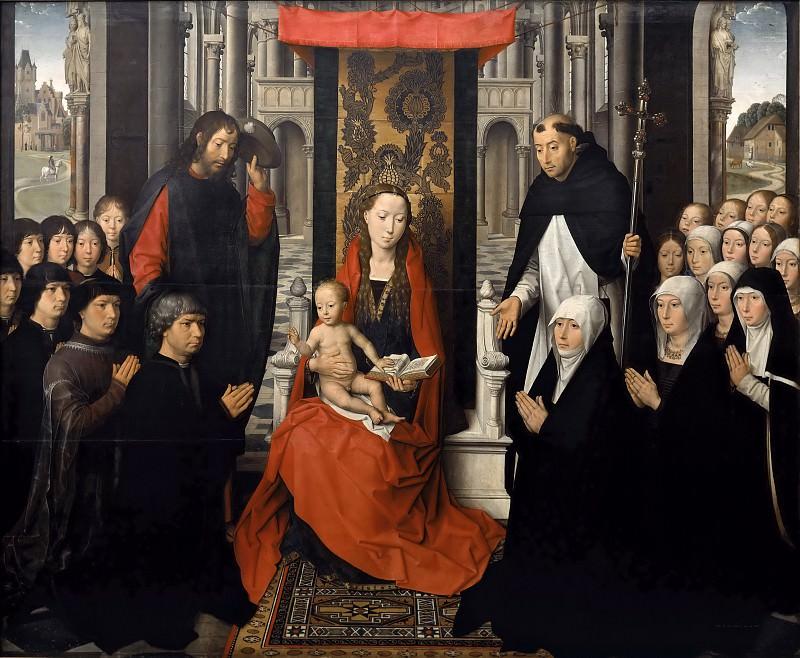 Hans Memling -- Virgin of Jacob Floreins. Part 3 Louvre