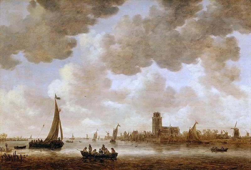 Jan van Goyen (1596-1656) -- View of Dordrecht with the Grote Kerk. Part 3 Louvre